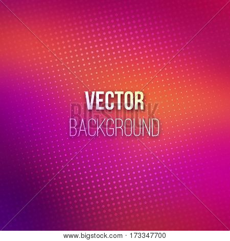 Purple blurred vector background with halftone effect overlay. Smooth pink and violet gradient