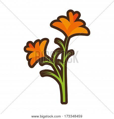 cartoon freesia flower spring natural vector illustration eps 10