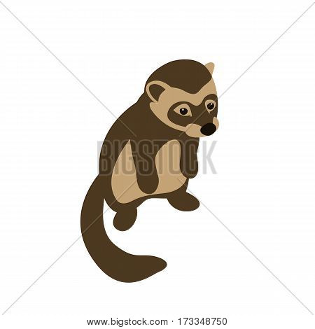 ferret vector illustration style Flat front side