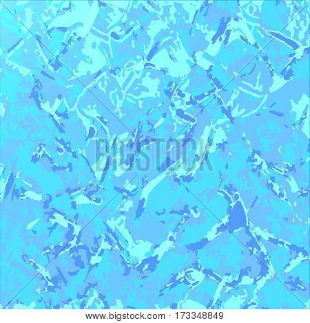 Blue turquoise marble background. Mottled vector background