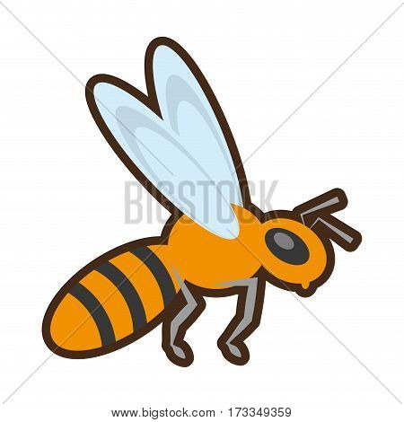 cartoon bee insect flower pollen vector illustration eps 10