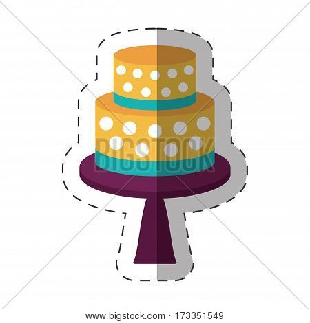 cake dessert decorative shadow vector illustration eps 10