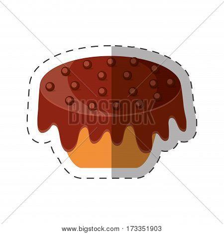cake chips chocolate dessert shadow vector illustration eps 10