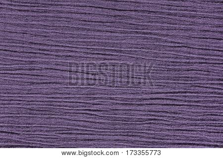 Heather purple crinkled material with horizontal lines fabric abstract background texture