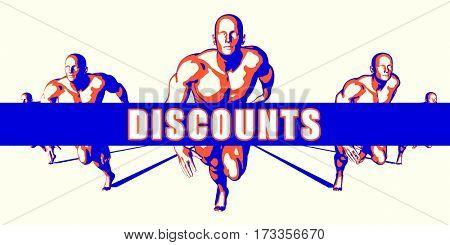 Discounts as a Competition Concept Illustration Art 3D Illustration Render