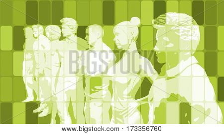 Team Spirit On a Mission in Business Concept 3D Illustration Render