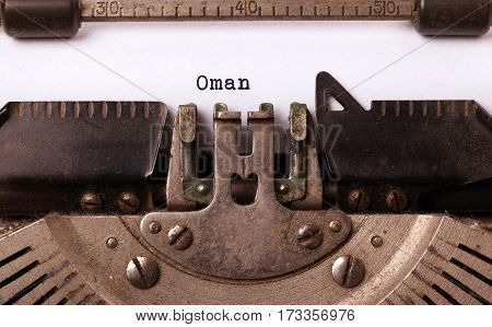 Old Typewriter - Oman