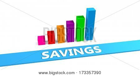 Great Savings Concept with Good Chart Showing Progress 3D Illustration Render