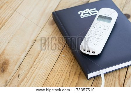 Business Paper Notebook With Phone Copy Space