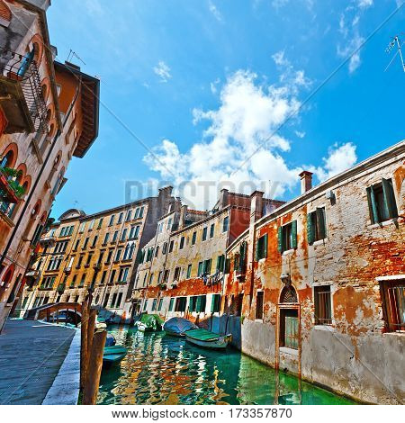 The Narrow Canal- the Street in Venice