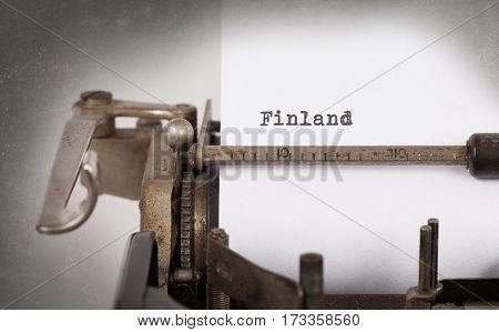 Old Typewriter - Finland