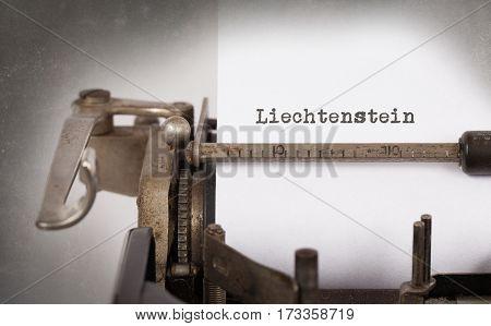 Old Typewriter - Liechtenstein