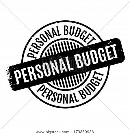 Personal Budget rubber stamp. Grunge design with dust scratches. Effects can be easily removed for a clean, crisp look. Color is easily changed.