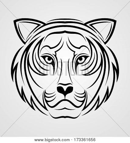 Tribal Tiger Face Vector Photo Free Trial Bigstock
