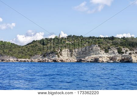 Greek Island. View From Ship