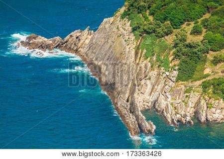 The bay of la Concha in San Sebastian Spain Europe.