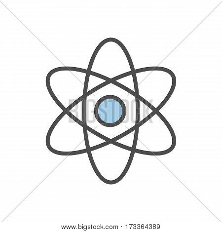 Isolated molecule icon on white background. Cocept of science and medicine.