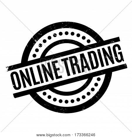 Online Trading rubber stamp. Grunge design with dust scratches. Effects can be easily removed for a clean, crisp look. Color is easily changed.