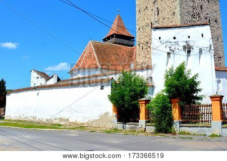 Fortified saxon medieval church Homorod, Transylvania, Romania.
