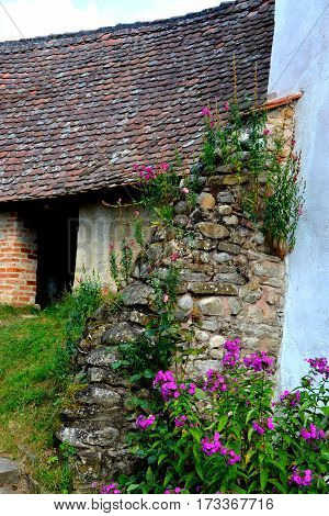 Fortified medieval church in Viscri, Transylvania, Romania.