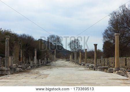 The Amphitheatre Way of Ephesus Ancient City Selcuk