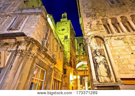 Street Od Old Split Stone Architecture Evening View