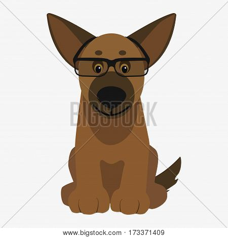 Brown Dog Glasses Vector Photo Free Trial Bigstock