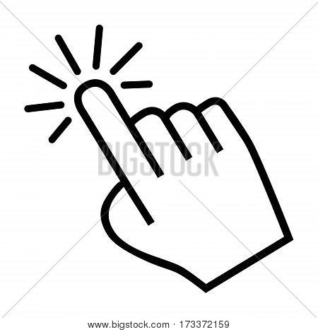 cursor hand icon on a white background