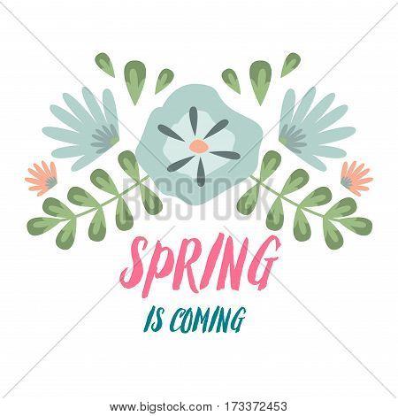 Spring Typographic Vector Photo Free Trial Bigstock