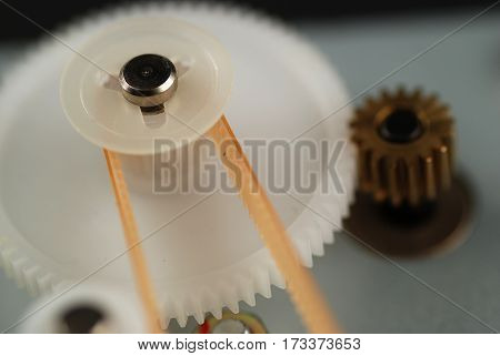Stock pictures of several gears used for movement mechanisms