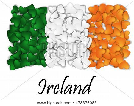 Love Ireland. Flag Heart Glossy. With Love From Ireland. Made In Ireland. Saint Patrick Flag. Irelan