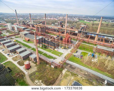 The Zollverein Coal Mine cokery complex in Essen, Germany