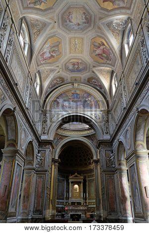ROME, ITALY - SEPTEMBER 01: Santa Maria in Aquiro church in Rome, Italy  on September 01, 2016.