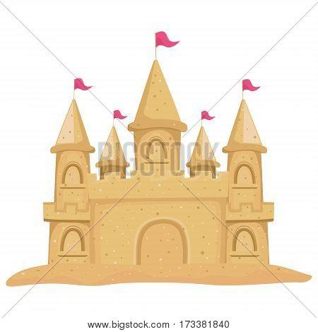 Vector Illustration of a Sand Built castle
