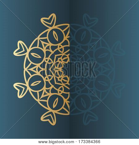 Vector vintage gold Mandala sign frame. Ethnic decorative elements. Oriental pattern, vector illustration. Islam, Arabic, Indian, turkish, pakistan, chinese, ottoman motif