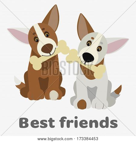 Dogs Vector Illustration