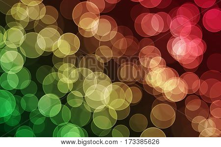 Colored digital bokeh background, created by computer software