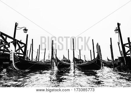 gondola in Venice Italy, in early morning