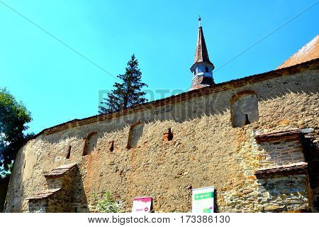 Fortified medieval saxon church in the village Crit-Kreutz, transylvania, Romania.The villagers started building a single-nave Romanesque church, which is uncommon for a Saxon church, in the 13th century.