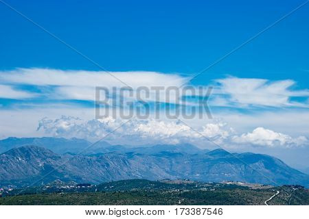 Dubornik Croatia Mountains View Sky and Clouds