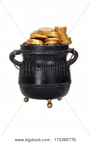 isolated pot of gold on a white background