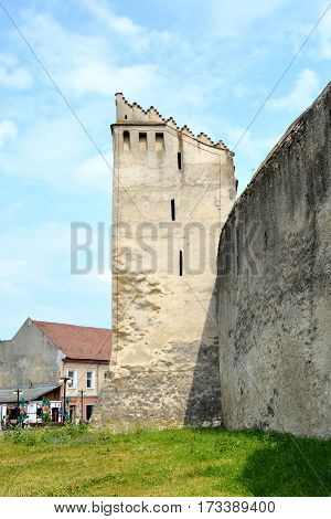 Fortified medieval saxon church Codlea, the largest in the Burzenland historic region, Transylvania, Romania. The city of Codlea is believed to have been also founded by Germans.