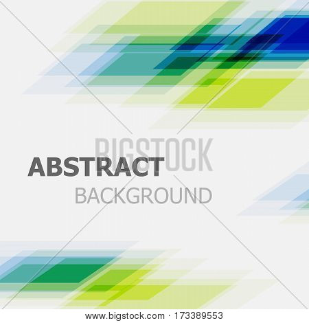 Abstract green and blue business straight line background, stock vector