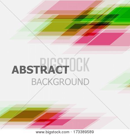 Abstract green and pink business straight line background, stock vector