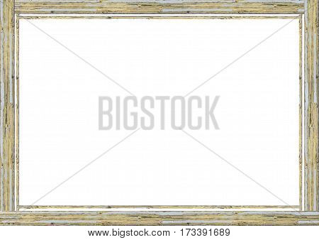 Wasted Wooden White Frame Background