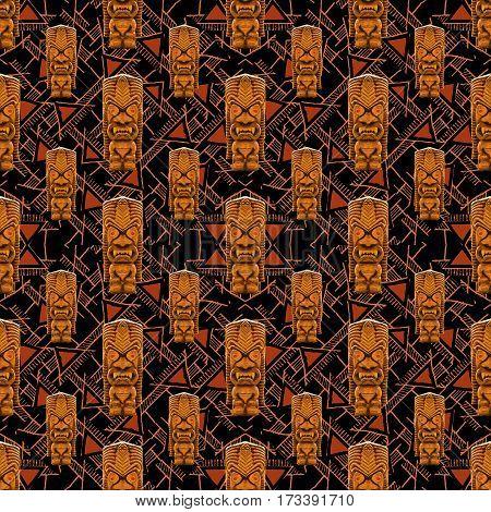 Tribal Totem Seamless Pattern