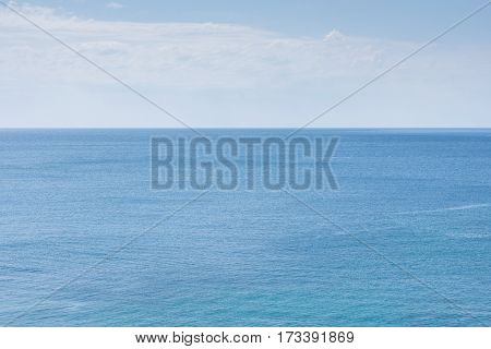 Beautiful Blue Sea With Blue Sky On The Horizont