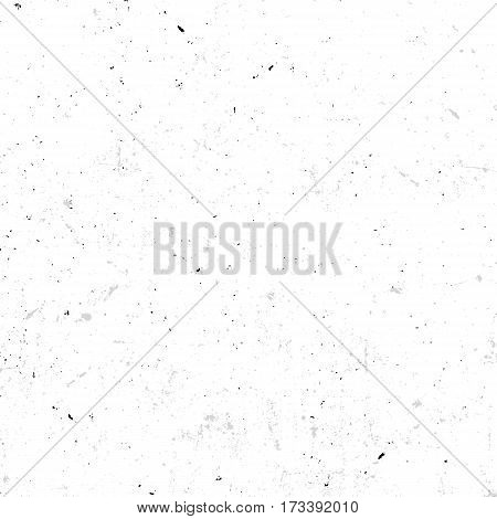 Isolated abstract speckled white seamless texture with dirty effect vector illustration, old wallpaper background