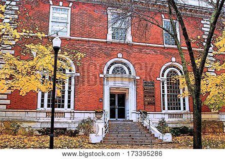 Fall, Old Post Office, Meadville Pennsylvania, 2014