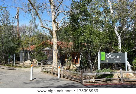 ORANGE, CALIFORNIA - FEBRUARY 24, 2017: OC Zoo at Irvine Regional Park. The park was founded on land donated by James Irvine, it is the oldest regional park in California.